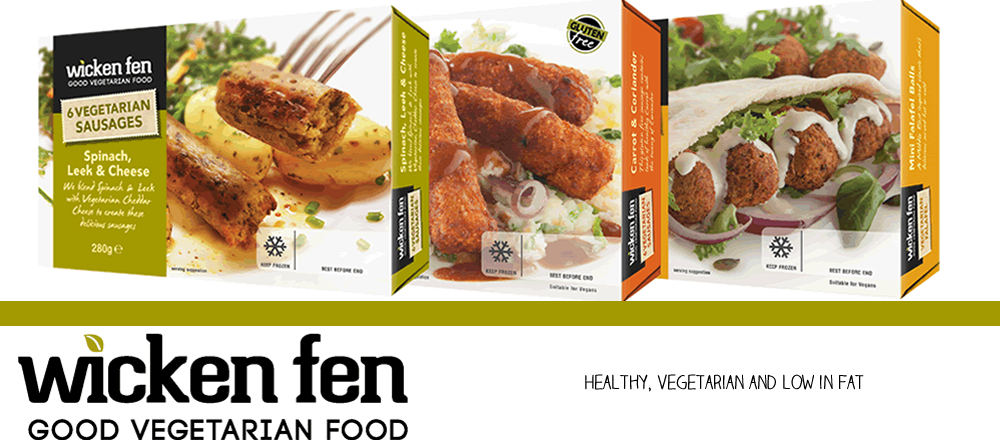 picture showing three of our product lines for Vegetarian Food.